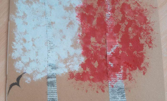 Biało-czerwone drzewa